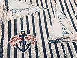LushFabric Sailboat, Stoff mit Streifen Marine-Schiff