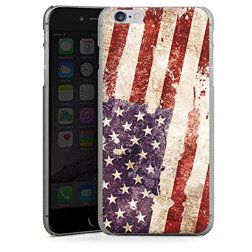 Apple iPhone 4 Housse Étui Silicone Coque Protection États-Unis d'Amérique Amérique États-Unis Drapeau CasDur anthracite clair