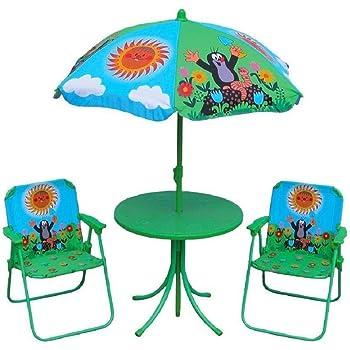 deuba kindersitzgruppe sonnenschirm tisch st hle gartenm bel f r kinder. Black Bedroom Furniture Sets. Home Design Ideas