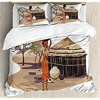 femme africaine de couette par ambesonne native woman de transport dune cabine de