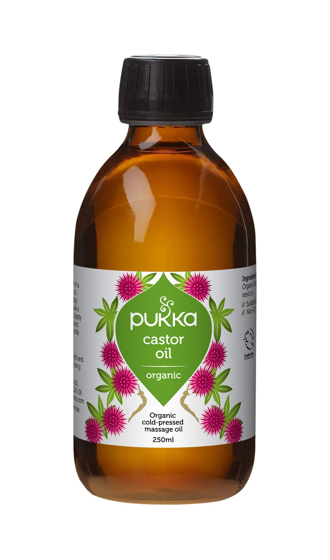 Pukka Herbs Castor Oil, Organic & Cold-Pressed, 250ml Bottle
