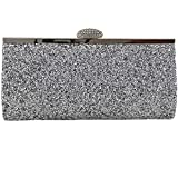 Womens Sparkly Glitter Clutch Bag Bridal Prom Party Purse