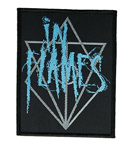 In Flames Aufnäher Blue Logo Patch Patch - Gewebt & Lizenziert !!