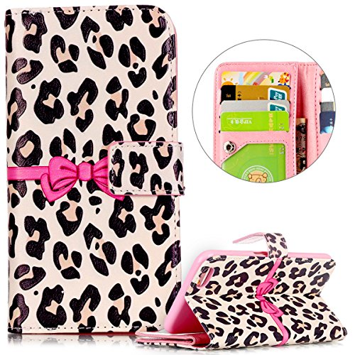 Cover iPhone 6, Custodia iPhone 6S a Libro, Flip Portafoglio Cover in Pelle + Bumper Custodia in Silicone TPU Morbido, Surakey Elegante Full Body Protezione Posteriore iPhone 6 Custodia Wallet in PU L Bowknot