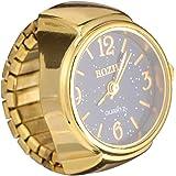 NICERIO Relojes de Anillo Reloj de Dedo de Cuarzo Elástico Vintage Relojes de Anillo de Dedo de Cuarzo Redondo para Hombres M