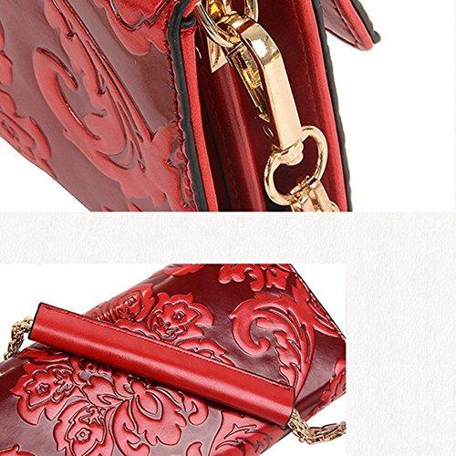 Eysee, Borsa a tracolla donna vinaccia rosso Light brown 25cm*12cm*3.5cm Light brown