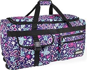 Reisetasche Jumbo Big-Travel 3 Rollen riesige XXL V4 5. Generation NEU von normani® Farbe Lila