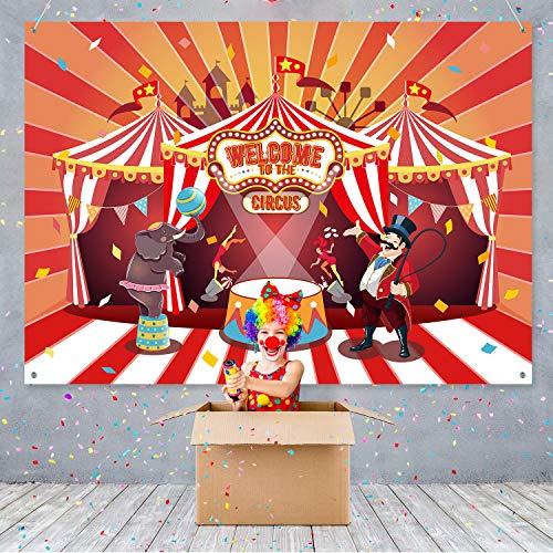 Zirkus Thema Party Banner Liefert Karneval Rot Fotografie Hintergrund Zirkus Thema Geburtstag Party Foto Schießen Hintergrund für Groß Party Dekoration