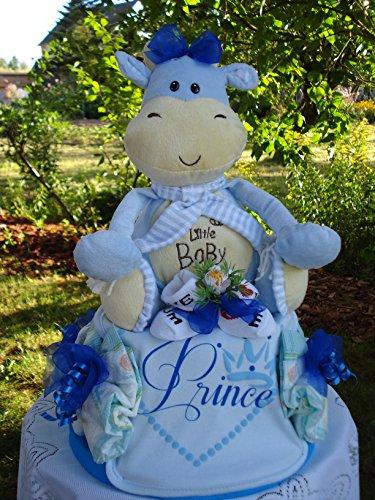 """Windeltorte""""Little Baby und Prince""""blau,Geburt,Taufe,Hochzeit"""