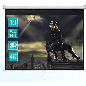 Tv, Video & Audio Beamer Leinwand Stativleinwand Rolloleinwand 133 Zoll 240 X 240 1:1 Full Hd 4k