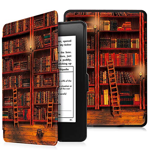 Fintie Kindle Paperwhite Hülle - Die dünnste und leichteste Schutzhülle Tasche mit Auto Sleep/Wake für Amazon Kindle Paperwhite (alle Generationen), die Bibliothek