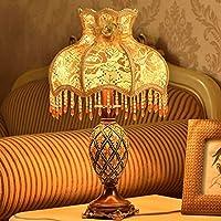 ZYCkeji Zart Tischlampe Europäischen Schlafzimmer Nachttisch Hochzeit Dekoration Lampe Originalität preisvergleich bei billige-tabletten.eu