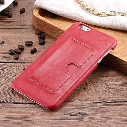 iPhone Case Cover Couverture en cuir PU de couleur unie avec porte-cartes style U pour iPhone 6 Plus 6S Plus ( Color : D , Size : IPHONE 6S PLUS ) E