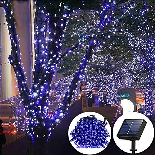 ELINKUME 100 LEDs 17 Meter LED Wasserdicht Solar Lichterkette mit Lichtsensor, Solarlichterketten,...