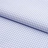 Hans-Textil-Shop Stoff Meterware, Vichy Karo 2x2 mm, Lila, Baumwolle