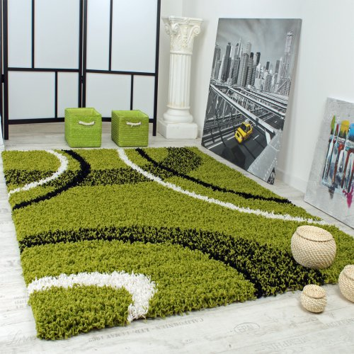 shaggy-carpet-high-pile-long-pile-patterned-in-green-black-white-size120x170-cm