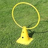 Bild: KombiKegel 30 mit KombiRing 50 cm in 4 Farben für Agility  Hundetraining gelb