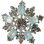 EXKLUSIVE Brosche Weihnachten ORNAMENT opal
