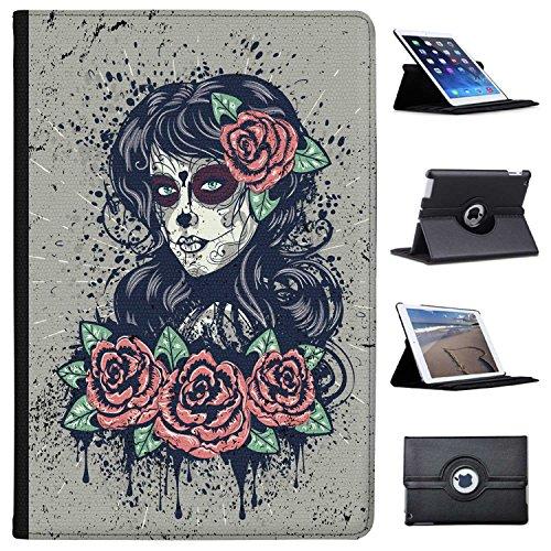 ge Tag der Toten Frau mit Rosen im Haar Case Cover/Folio aus Kunstleder für Das Apple iPad Pro 10.5