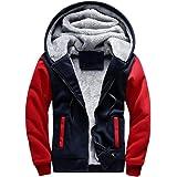 Aotorr Men's Winter Warm Fleece Hooded Sweatshirt Lined Large