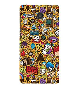 EPICCASE blood and sweat Mobile Back Case Cover For Mi Redmi 2 Prime (Designer Case)