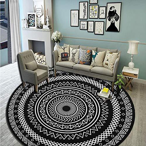 RZJF Europäischen Stil Wohnzimmer Couchtisch Teppich Schlafzimmer Nachttisch Teppich Pflaume Durchmesser 160 cm