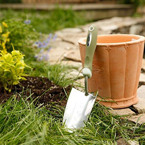 Galleria fotografica Worth Garden cazzuola inossidabile manuale da giardino Strumenti per giardinaggio w/superficie lucida a specchio e morbida impugnatura ergonomica TPR