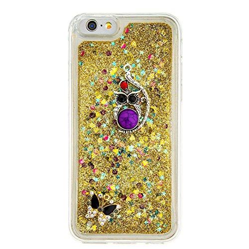 """Flüssiges Case Ultra Thin Dünn TPU Silikon Schutzhülle für iPhone 6/6s 4.7"""" 3D Kreative Liquid Handyhülle Durchsichtig Rückseite Tasche Glitter Shiny Kristall Klar Handytasche Sparkle Dynamisch Treibs B19"""