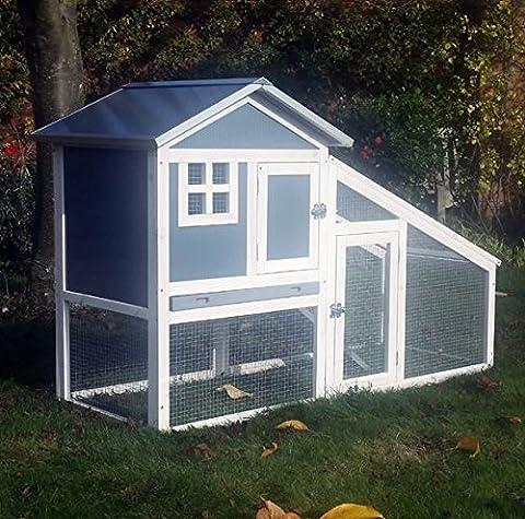 BUNNY ARK - Hybride - Double Tier Clapier Guinée Pig Maison Cage Pen Accueil, Cabane pour les lapins. (RH10)