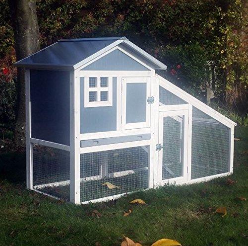 BUNNY ARK – Hybrid – Doppel Tier Kaninchenstall Meerschweinchen Haus Cage Pen Startseite (RH10)