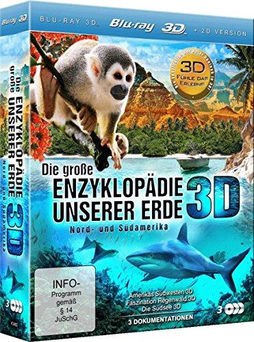 Die große Enzyklopädie unserer Erde: Nord- und Südamerika (Amerikas Südwesten 3D, Faszination Regenwald 3D, Die Südsee 3D) (3 Disc Set) [3D Blu-ray] Enzyklopädie Des Dokumentarfilms