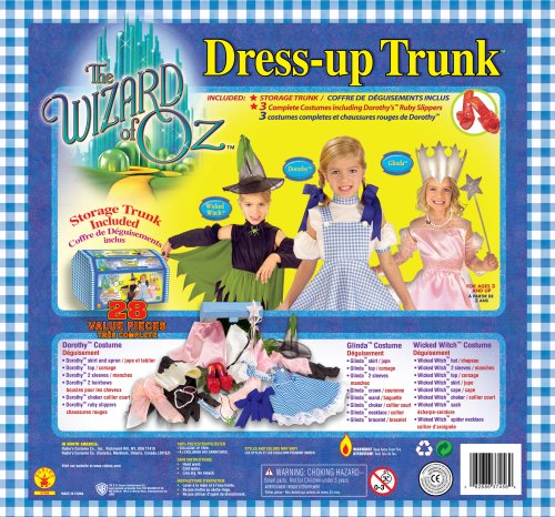 Rubies Kost-me The Wizard Of Oz Dress Up Trunk Kinderkost-m Kits One-Size (Trunks Dress Up)
