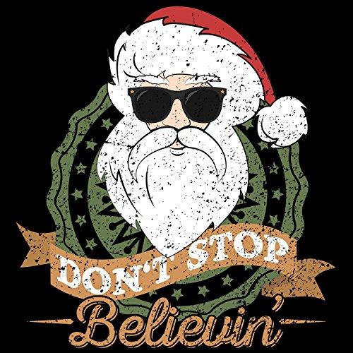 ... Fashionalarm Herren College Jacke - Don't Stop Believin' Santa | Varsity  Baseball Jacket ...