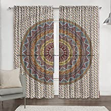 Cortina india bohemia hippie mandala para cocina, ventana, cortina y cenefa, tapiz de