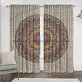 Cortina india bohemia hippie mandala para cocina, ventana, cortina y cenefa, tapiz de dormitorio, cortina india para balcón, decoración de habitación, juego bohemio hippie...