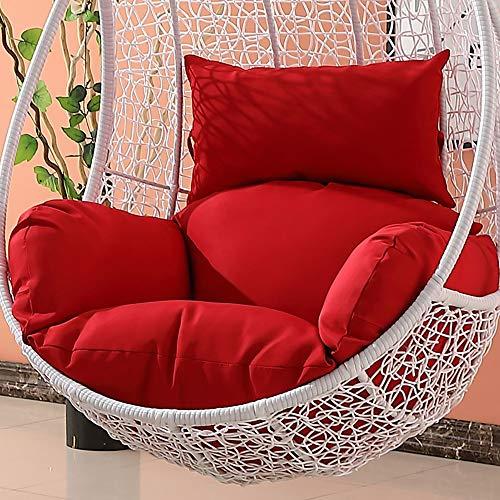 Qhqh uovo di appendere amaca sedia cuscini senza stand, altalena sedile cuscino spessore nido appeso sedia indietro, per sedia a dondolo adulto sedie in vimini coperta balcone pad