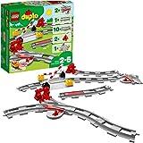 LEGO10882DuploTownVíasferroviarias,JuguetedeConstrucciónparaNiñosdea Partir de 2años,AccesoriosparaTrenes