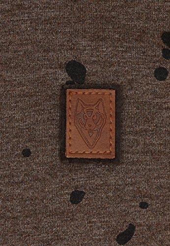 Naketano Male Sweatshirt Nordschleife made men Heritage Anthracite Melange