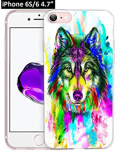 6S Hülle Pfau, Ecute Weiche Slim Flexible Deutlich, Gummi Seite + Stil Harte Rückseite Fall für iPhone 6S/für iPhone 611,9cm-Blau Peacock-Color Blumen, 6S/6-35