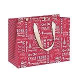 Rössler 230x 190x 80mm internazionale di Natale sacchetto regalo con nastro–rosso
