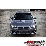 Mitsubishi Blendstreifen 130cm Sonnenschutz Scheibe Aufkleber Frontscheibe Aufkleber Tuning Scheibe Lack TYP-MRS16 `+ Bonus Testaufkleber