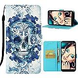 Roreikes Handyhülle Compatible with Samsung Galaxy J4 Core,PU Leder Tasche Schutzhülle Stoßfest Flip Case Cover Brieftasche 3D Wolke Kopf Muster Ledertasche Ständer Kartensätze [Magnetisch]
