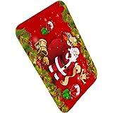 Fangfeen Navidad con Temas de Interior de la Puerta del cojín del pie Mat Anti Slip Baño Alfombras Cocina Pasillo WC Alfombra