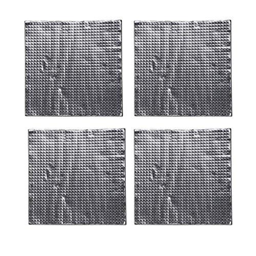 Homyl 4X Selbstklebend Wärmeisolierung Baumwolle Heiße Bettauflage für PCB heißes Bett, Silikon Heatbett Unterseite 300x300x10mm