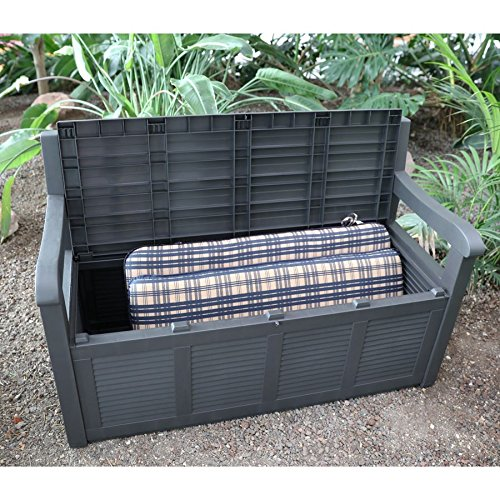 2- Sitzer Gartenbank mit Aufbewahrungsbox Truhe Kissen Auflagen Garten Terrasse - 2