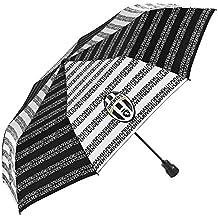 Perletti - Paraguas Juventus mini blanco y negro con emblema Juventus F.C. campeones desde 1897-