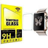 actecom® Protector DE Pantalla 38 MM para Apple Watch Serie 3 Cristal Templado