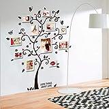 Dynamovolition Cornici per alberi Adesivo murale Soggiorno Decorazione Famiglia felice Decalcomania Buccia e bastone Rimovibi