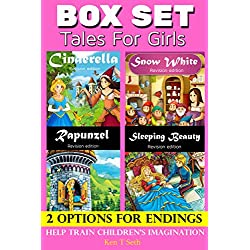 Tales for Kids : Tales for Girls BOX SET - 2 options for endings series: (Cinderella, Rapunzel, Sleeping Beauty and Snow White) (Early readers / bedtime reading for kids Book 28) (English Edition)