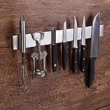 Barra magnética Soporte para Cuchillos, Sostenedor de Cuchillo magnetico Fuerte Amplia Tira de Cuchillo Barra de Cuchillo y Organizador de Herramientas magnetico